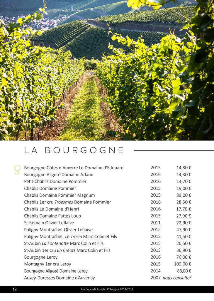 Découvrez la sélection des vins blancs de Bourgogne des Caves de Joseph : Chablis, Montagny, Bourgogne Aligoté, Puligny-Montrachet ...