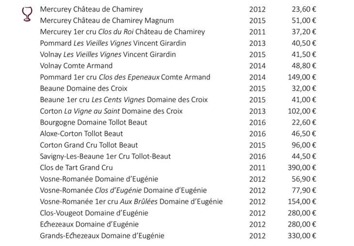 Découvrez la sélection des vins blancs et rouges de Bourgogne des Caves de Joseph : Mercurey, Pouilly-fumé, Morey-St-Denis, Gevrey-Chambertin ....