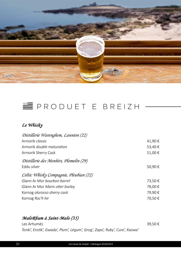 Du whisky distillé dans le Finistère, des bières brassées en Ile et Vilaine, il y a une sélection de produits bretons aux Caves de Joseph